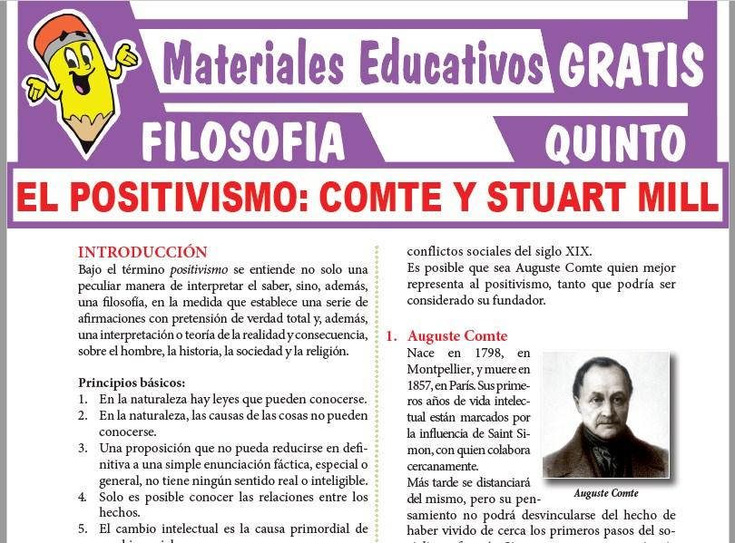 Ficha de El Positivismo para Quinto Grado de Secundaria