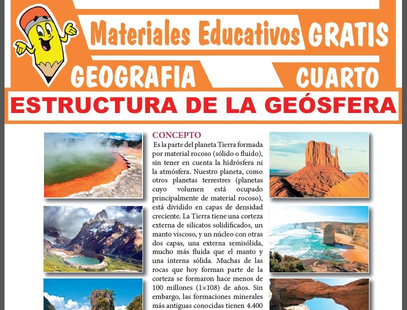 Estructura de la Geósfera para Cuarto Grado de Secundaria