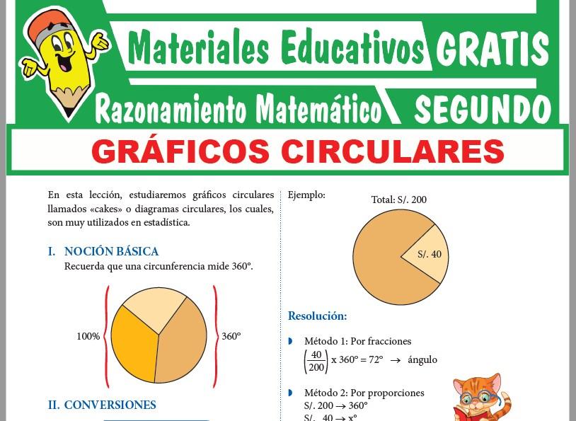 Ficha de Gráficos Circulares para Segundo Grado de Secundaria