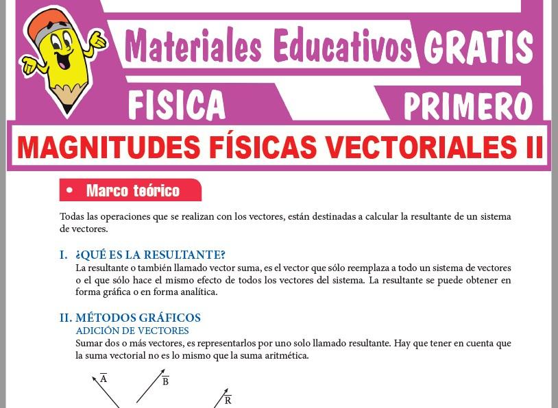 Ficha de Métodos Gráficos de Vectores para Primer Grado de Secundaria