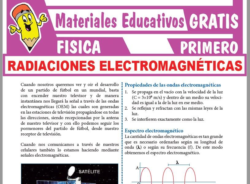 Ficha de Ondas Electromagnéticas para Primer Grado de Secundaria